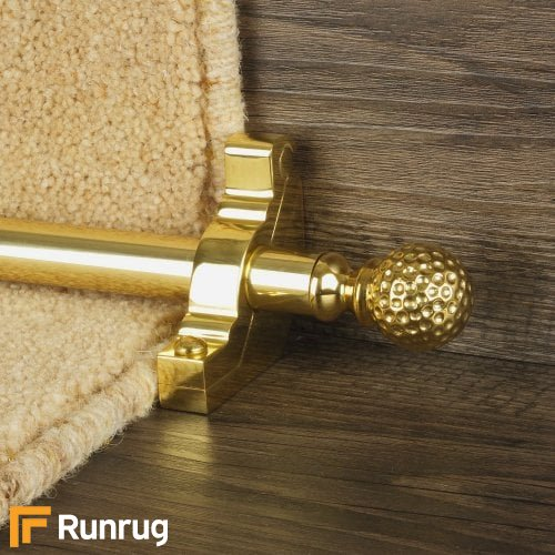 Eastern Promise Brass Finish Dune Plain Stair Carpet Runner Rods