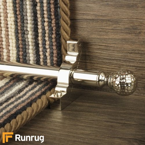 Eastern Promise Polished Nickel Finish Dune Plain Stair Carpet Runner Rods