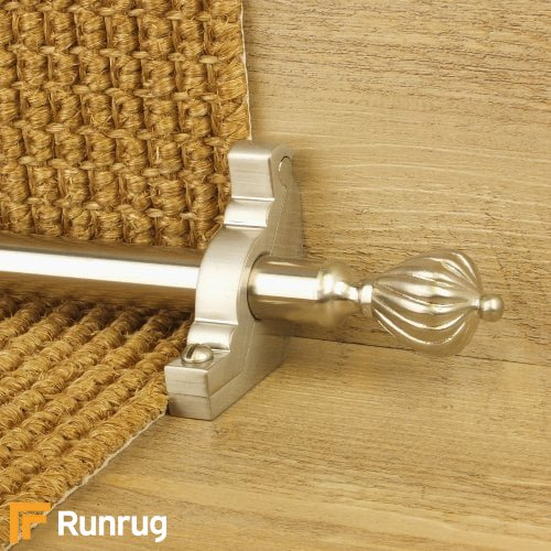 Eastern Promise Satin Nickel Finish Cairo Plain Stair Carpet Runner Rods