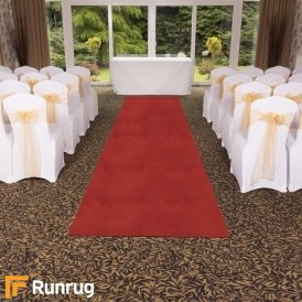 Eliza Glitter - Rosso Wedding Aisle Carpet Runner