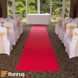 Eliza - Hollywood Red Wedding Aisle Carpet Runner