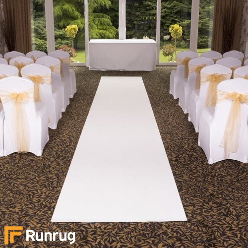 Eliza - Pure White Wedding Aisle Carpet Runner
