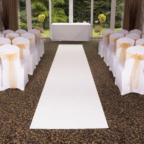 Eliza - Pure White Wedding Aisle Carpet Runner