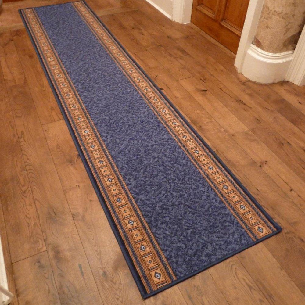 Blue Hall Runner Rug Epos Carpet Runners Uk