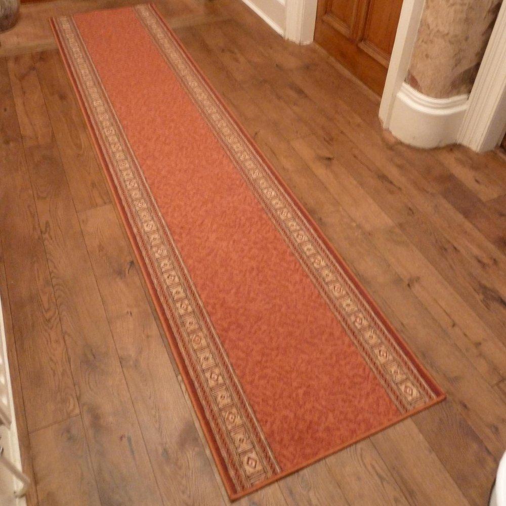 Terracotta Hall Runner Rug Epos Carpet Runners Uk