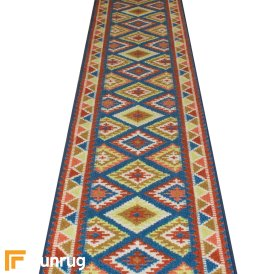 Ethnic Blue Hall Runner