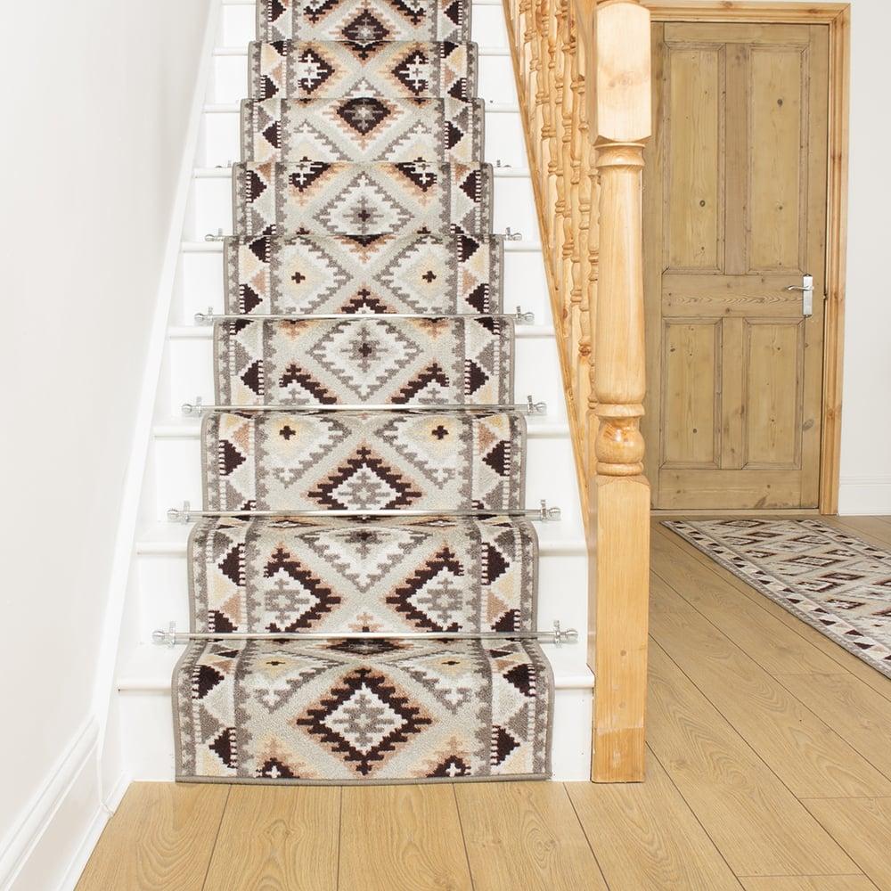Stone Stair Runner Rug Ethnic