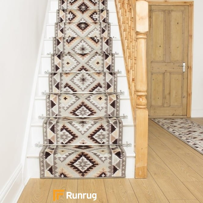 Ethnic Stone Stair Runner