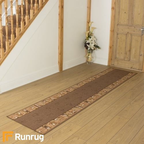 Feria Dark Brown Hall Runner