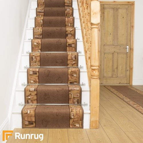 Feria Dark Brown Stair Runner