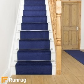 Festival Blue Plain Stair Runner