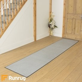 Festival Light Grey Plain Hall Runner