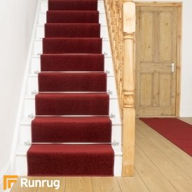 Festival Red Plain Stair Runner
