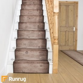 Gabbeh Brown Stair Runner