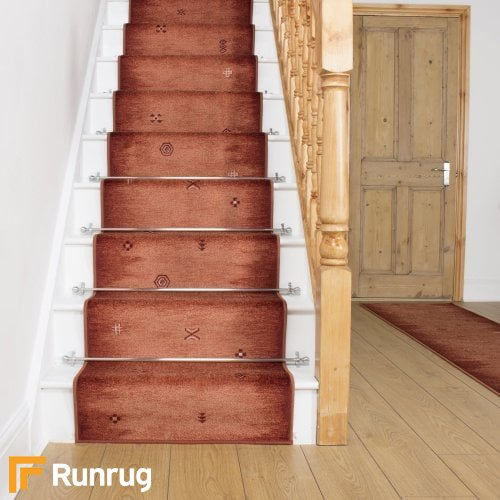 Gabbeh Rust Stair Runner