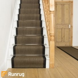Gingham Black Stair Runner