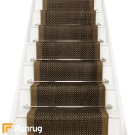 Grey stair carpet runners for Woven carpet for stairs