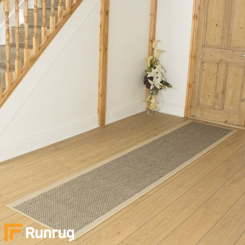 Gingham Tweed Beige Hall Runner