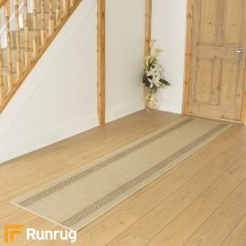 Greek Fret Beige Hall Runner