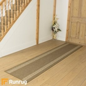 Greek Fret Brown Hall Runner