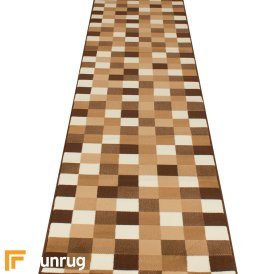 Gridlock Beige Hall Runner