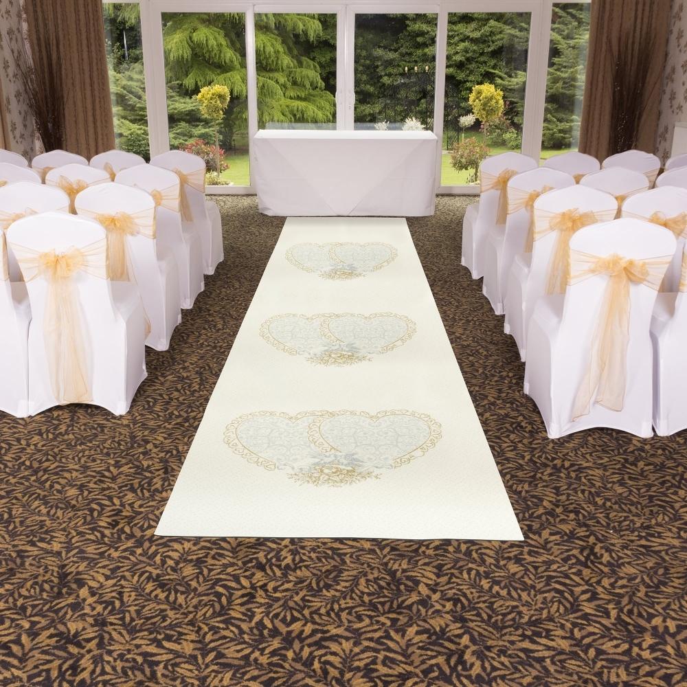 Heart Glitter White Wedding Aisle Carpet Runner At Carpet