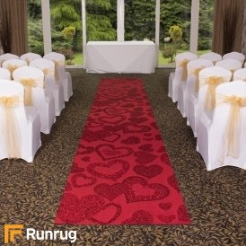 Heart - Red Wedding Aisle Carpet Runner