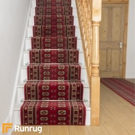 Helio Red Stair Runner