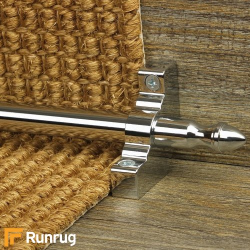 Homepride Chrome Finish Stair Carpet Runner Rods