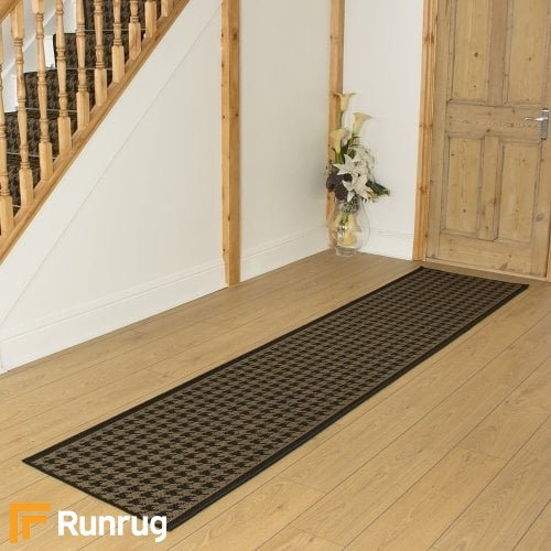 Houndstooth Black Hall Runner