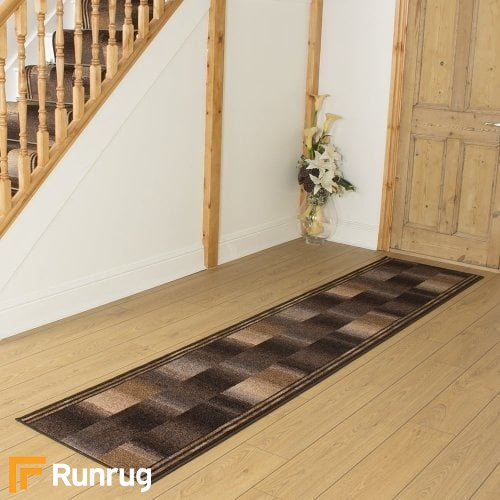 Ikat Brown Hall Runner