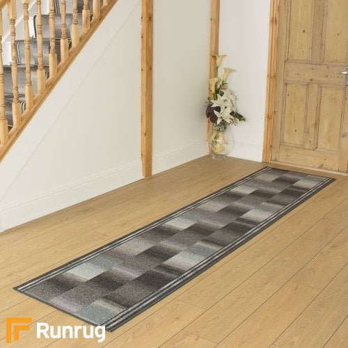 Ikat Graphite Hall Runner