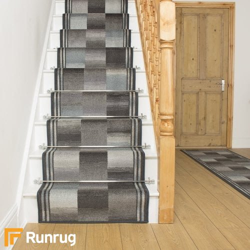 Ikat Graphite Stair Runner