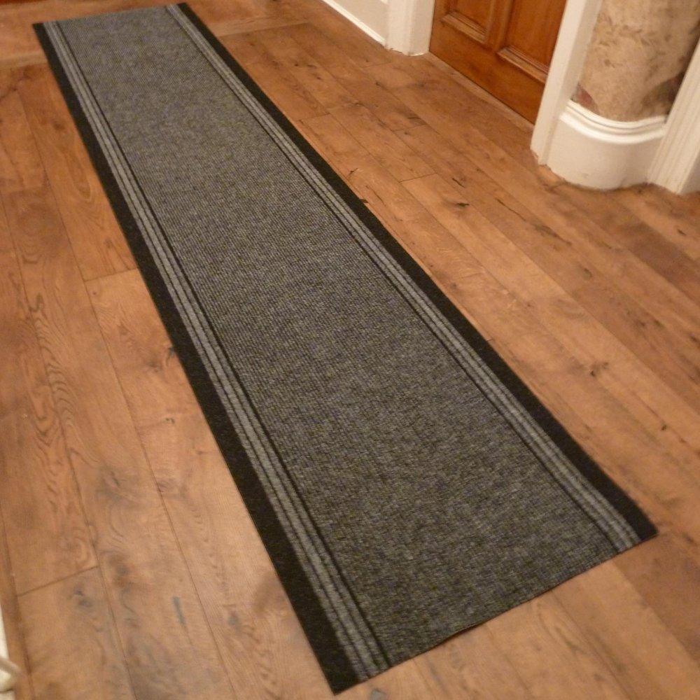 Grey hall runner rug inca carpet runners uk - Black carpet runners for hall ...