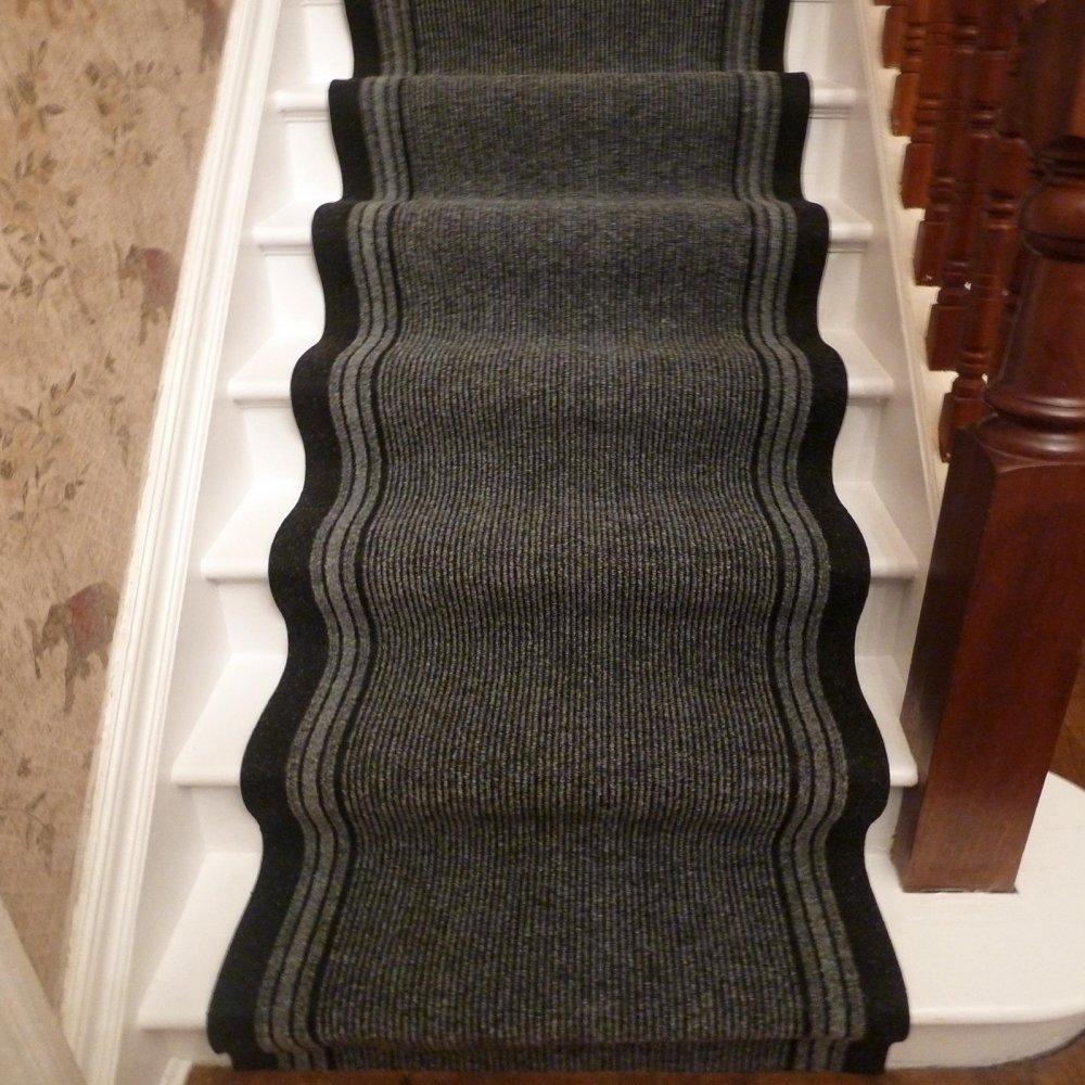 Inca   Grey Stair Carpet Runner