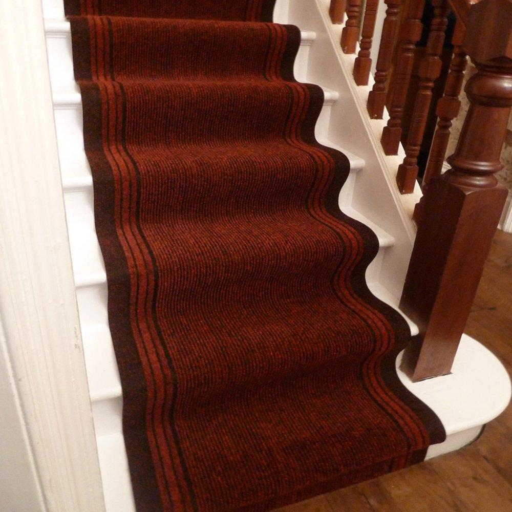 Red Stair Runner - Inca - Carpet Runners UK