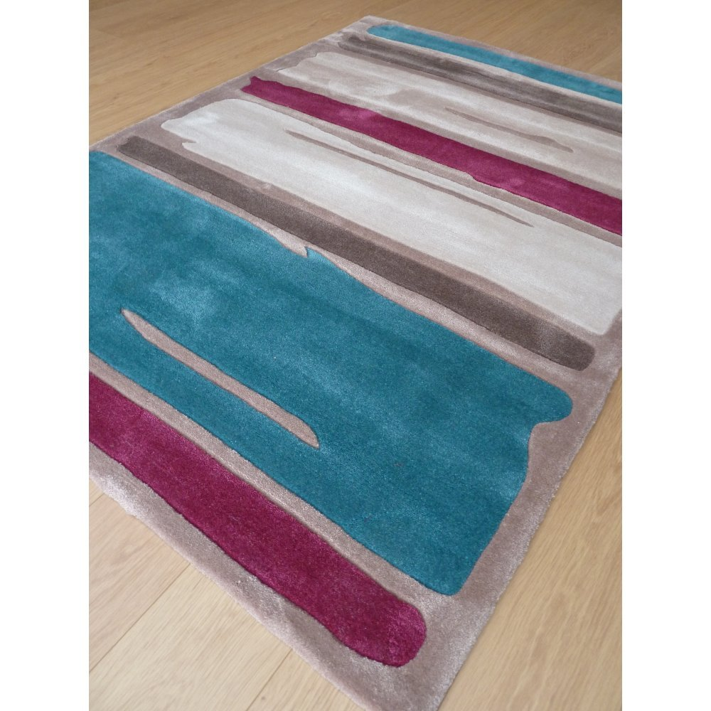 Infinite Mod Art Teal Purple Rug Only Available At Carpet