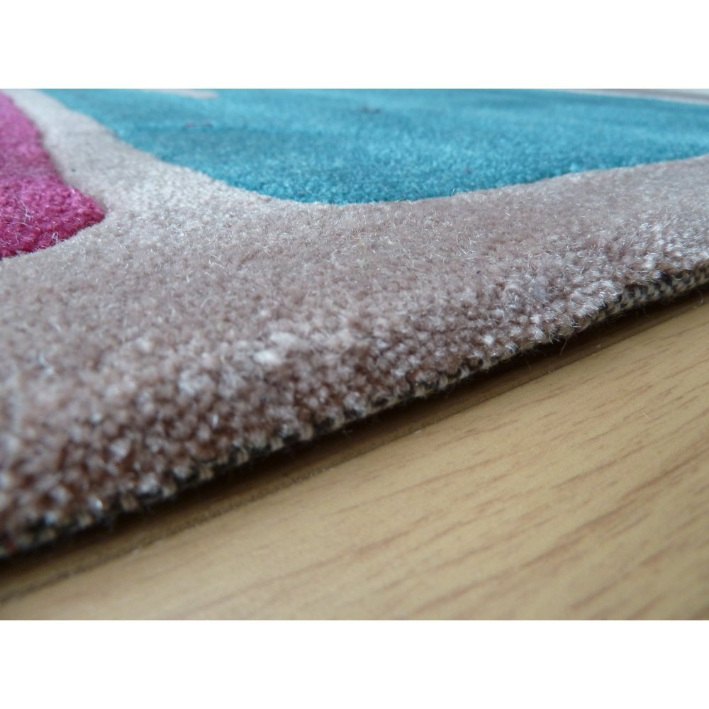 Purple Turquoise Rag Rug: Infinite Mod Art Teal Purple Rug Only Available At Carpet