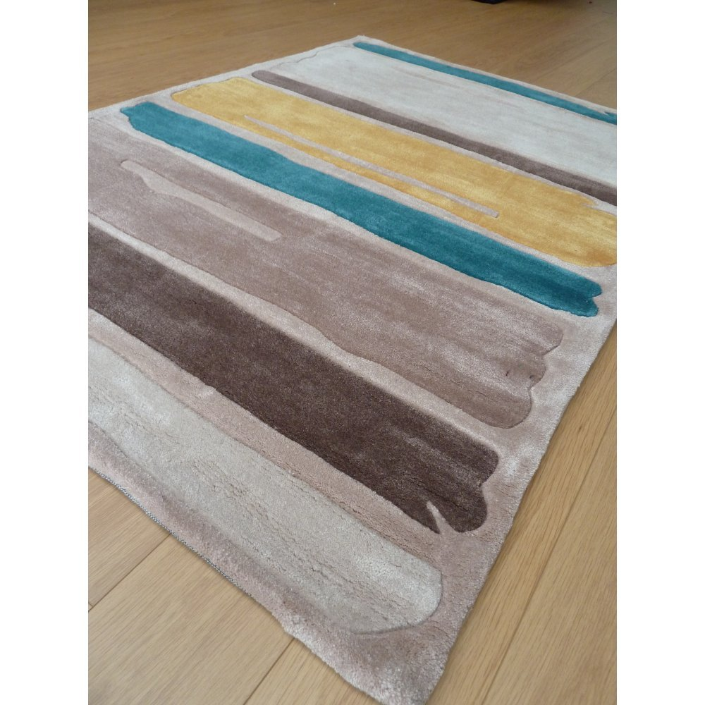 Infinite Mod Art Paint Yellow Rug Only Available At Carpet