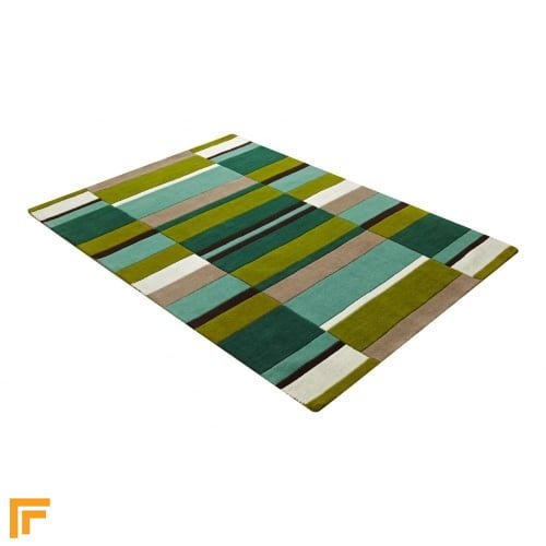Jazz - Blocks Green Rug