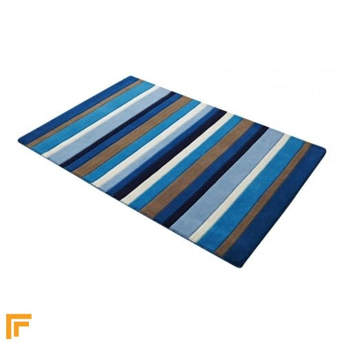 Jazz - Stripes Blue Rug