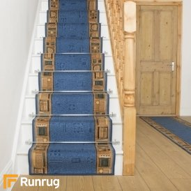 Jena Blue Stair Runner