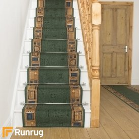Jena Green Stair Runner