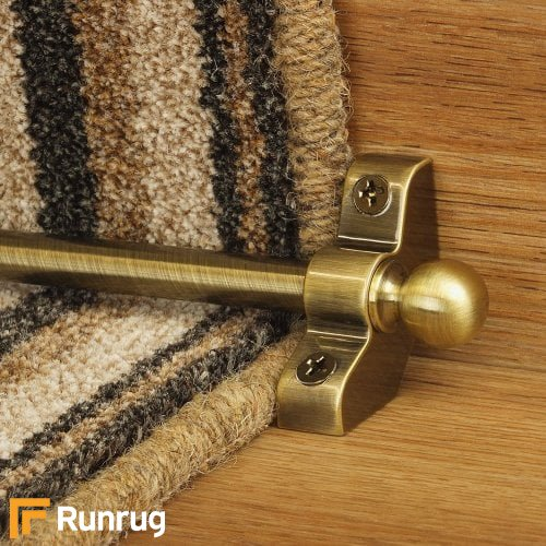 Jubilee Antique Finish Stair Carpet Runner Rods