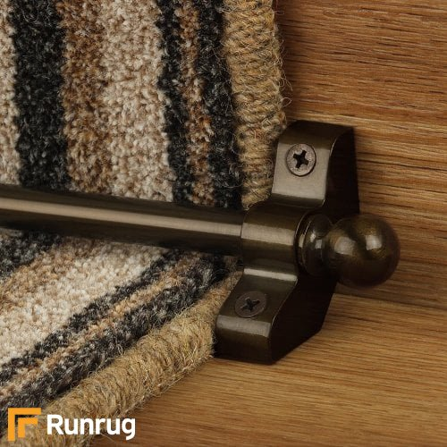 Jubilee Bronze Finish Stair Carpet Runner Rods