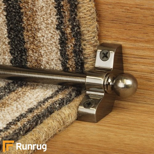 Jubilee Pewter Finish Stair Carpet Runner Rods
