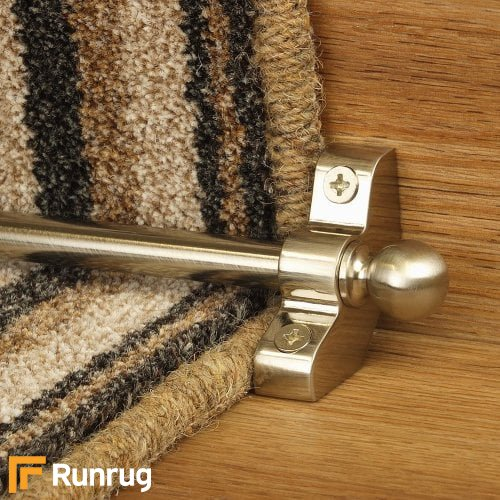Jubilee Satin Nickel Finish Stair Carpet Runner Rods