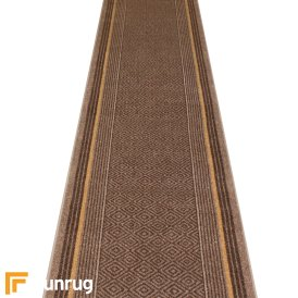 Jura Dark Brown Hall Runner