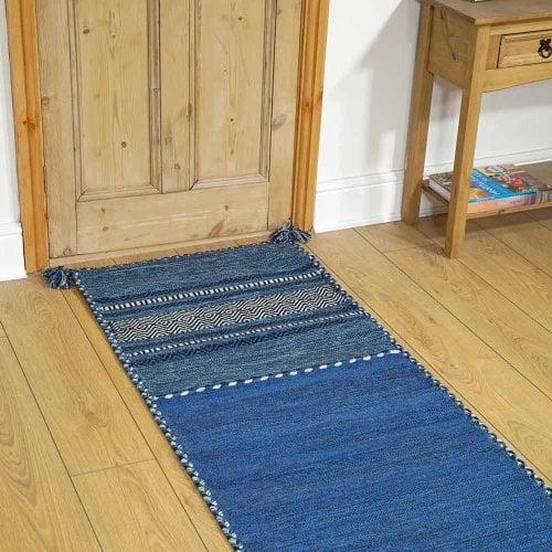 Kelim Blue Floor Rug