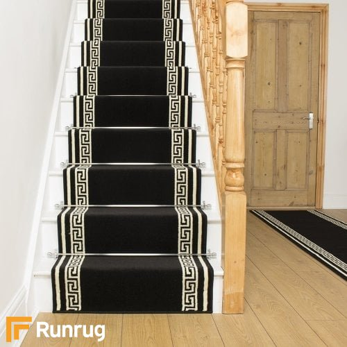 Key Black Stair Runner